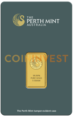 5g Gold Bar | Perth Mint | with Certificate