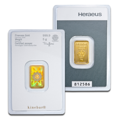 5g Gold Bar | Kinebar® | Heraeus