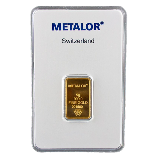 5g Metalor Gold Bar