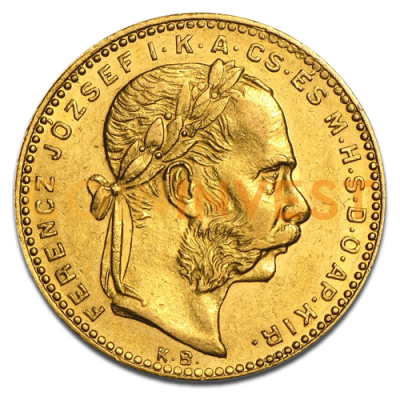 8 Forint 20 Francs Hungary | Gold | 1870 - 1892