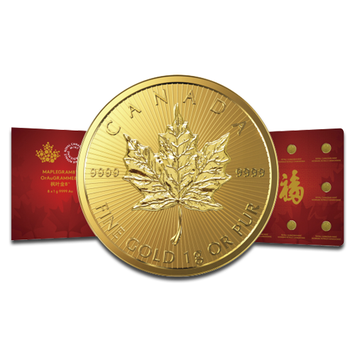 8 x 1g MapleGram8 | Gold | 2016