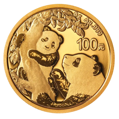 8g China Panda Goldmünze (2021)