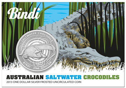 1 oz Australian Saltwater Crocodile - Bindi | Plata | Frosted | 2013