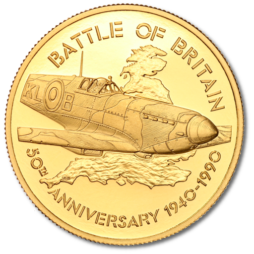 Britannia 50th Anniversary Battle of Britain Proof Set | Gold | 1990