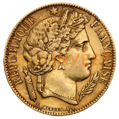 20 French Francs Cérès 2nd Republic | Gold | 1848-1852