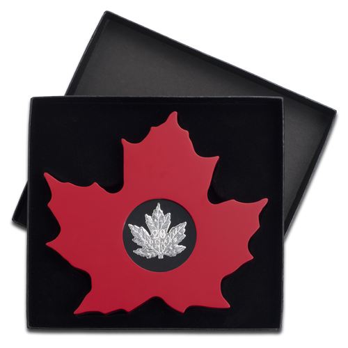 1 oz Cut-out Maple Leaf | Silver | 2015