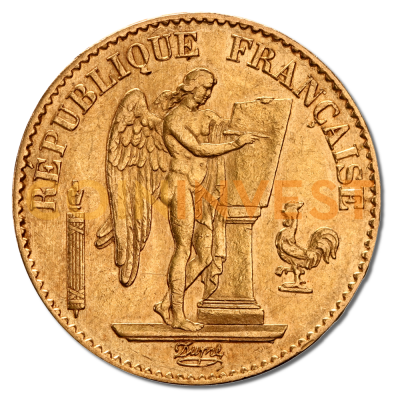 20 French Francs Génie 3rd Republic | Gold | 1871-1898