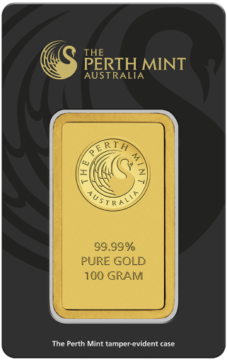 100g Gold Bar | Perth Mint | with Certificate