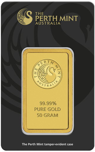 50g Gold Bar | Perth Mint | with Certificate