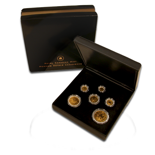 Gold Maple Leaf | Coin Set | 25 Aniversario | 2004