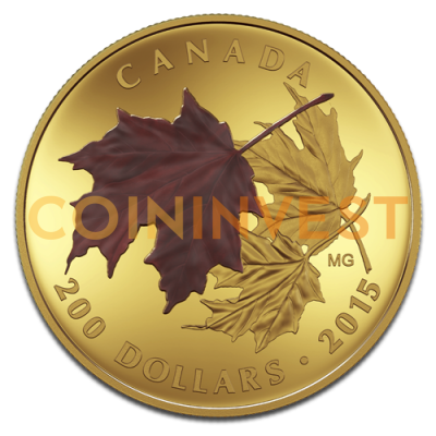 Gold Maple Leaf | 3 Coin Set | Alluring Maple Leaves of Fall | 2015