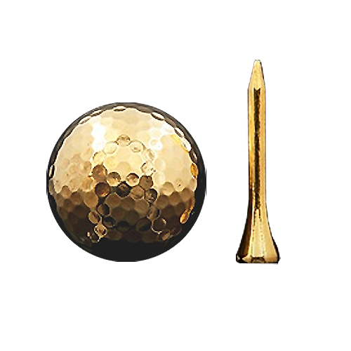 Golf Ball and Tee | Gold embellished