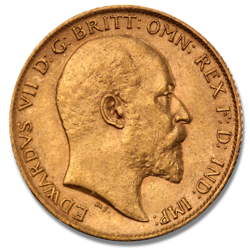Half Sovereign Edward VII Gold Coin (Mixed Years)