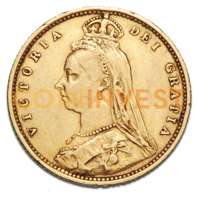 Queen Victoria Jubilee Half Sovereign Gold Coin (1887-1893)