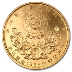 Seoul Olympics Gold Coins