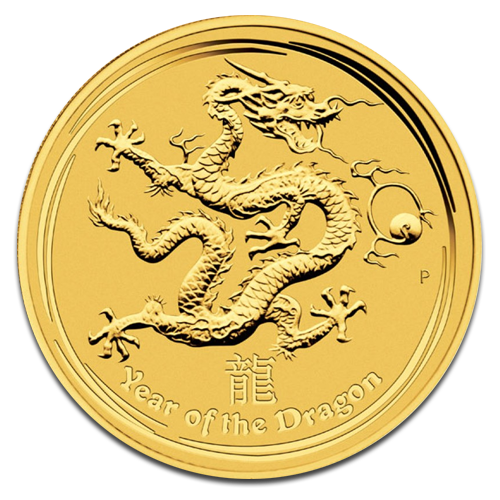 1 oz Lunar II Dragon | Gold | 2012