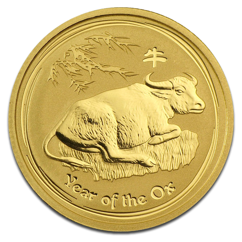 10 oz Lunar Ox | Gold | 2009