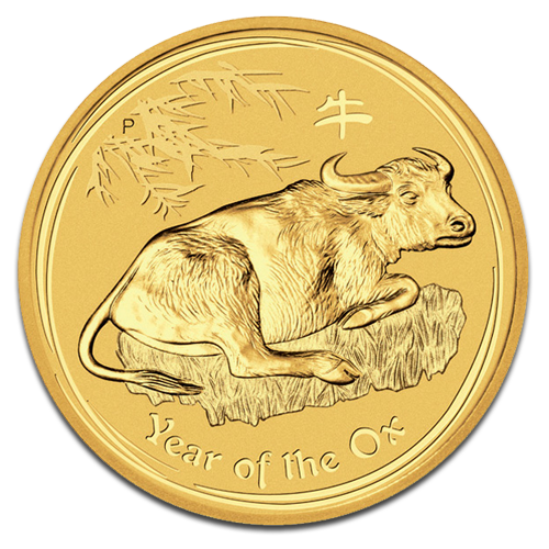 1 oz Lunar II Ox | Gold | 2009