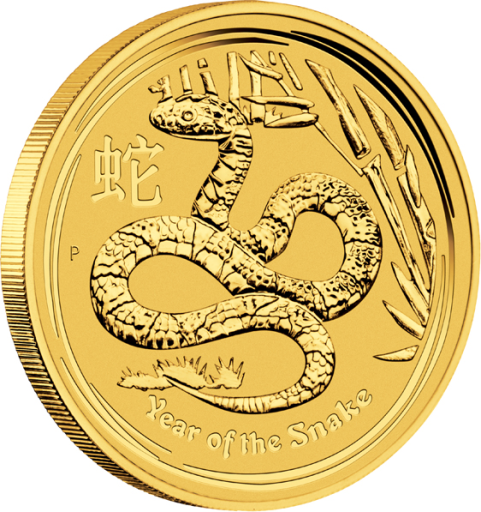 1/20 oz Lunar II | Serpente | Oro | 2013
