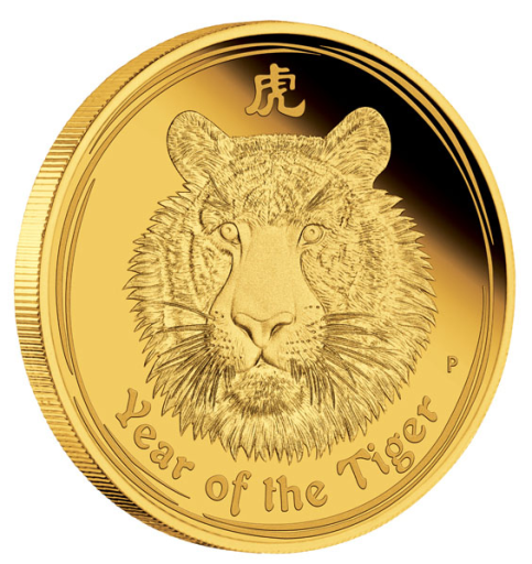 1 oz Lunar II Tigre | Or | 2010