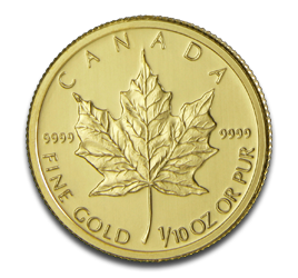 1/10 oz Maple Leaf | Oro | 2011