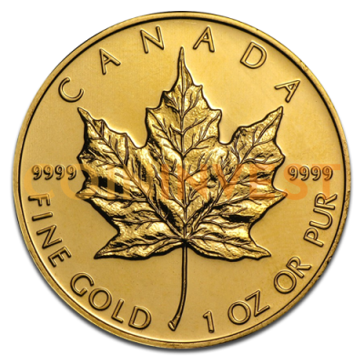 1 Oz Maple Leaf Gold Mixed Years Coininvest