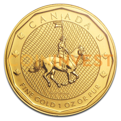 1 oz Mountie Gold Coin (2011)