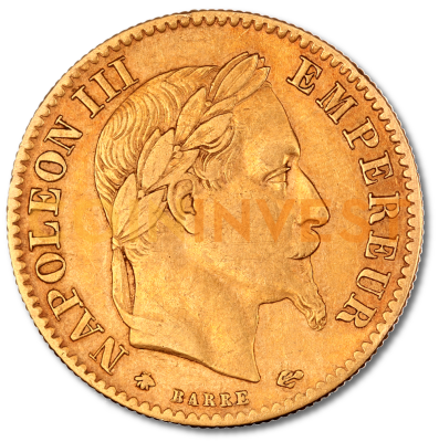 10 French Francs Napoleon III with Coronary | Gold | 1854-1869