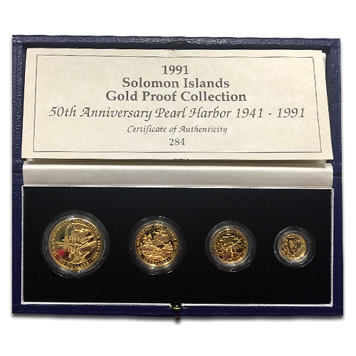 Salomoninseln, 50. Jubiläums-Set, Pearl Harbor 1941-1991