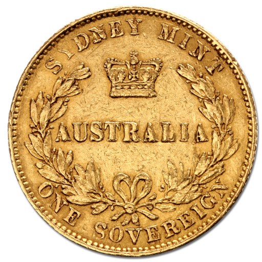 Sovereign d'Australie Victoria | Or | 1864