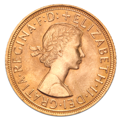 Queen Elizabeth II Gold Sovereign (1957 - Present)