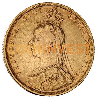 Золотой Соверен (Sovereign) Виктории 1887-1893 гг