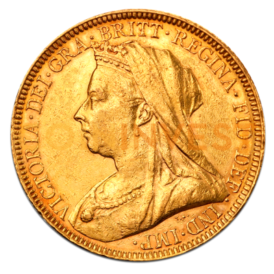 Queen Victoria Old Head Gold Sovereign (1893-1901)