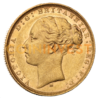 Queen Victoria Young Head Gold Sovereign (1837-1887) 2nd choice