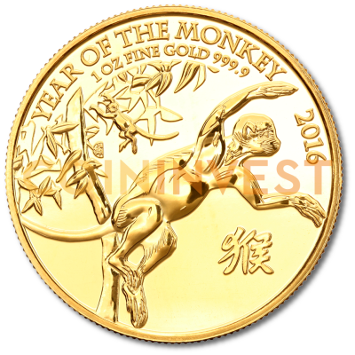 1 oz Lunar UK Year of the Monkey | Gold | 2016